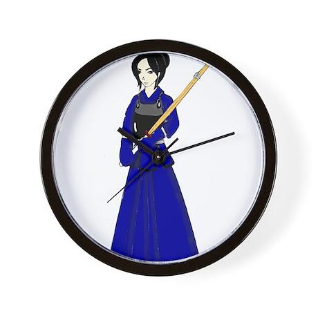 Kendo Girl Wall Clock