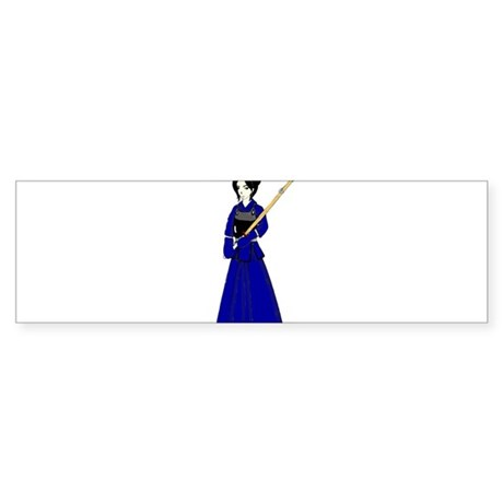 Kendo Girl Bumper Sticker