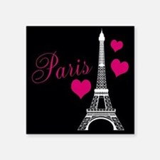 Paris Eiffel Tower in Black Sticker