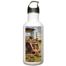 rustic farm old tracto Water Bottle