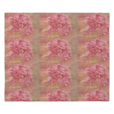 Dreamy Pink Floral King Duvet