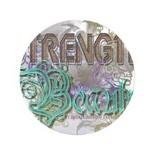 """Strength and Beauty 3.5"""" Button (100 pack)"""