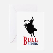 BULL RIDING Greeting Cards