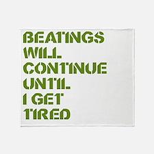 Beatings Throw Blanket
