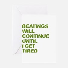 Beatings Greeting Cards