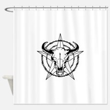 WESTERN STEER SKULL Shower Curtain