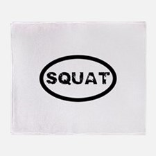 Squat Throw Blanket
