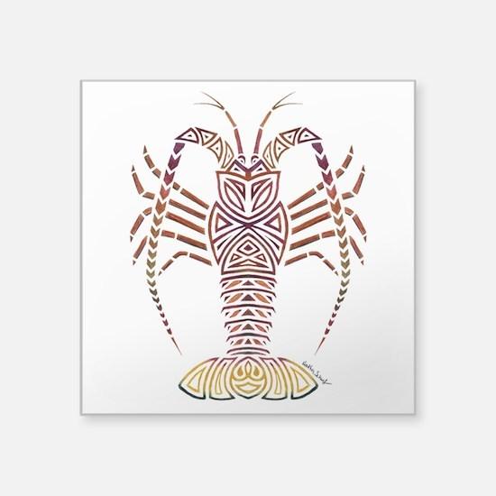 Tribal Caribbean Lobster Sticker
