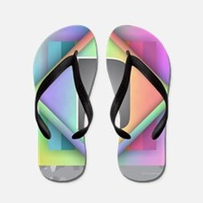 Rainbow Splash D Flip Flops