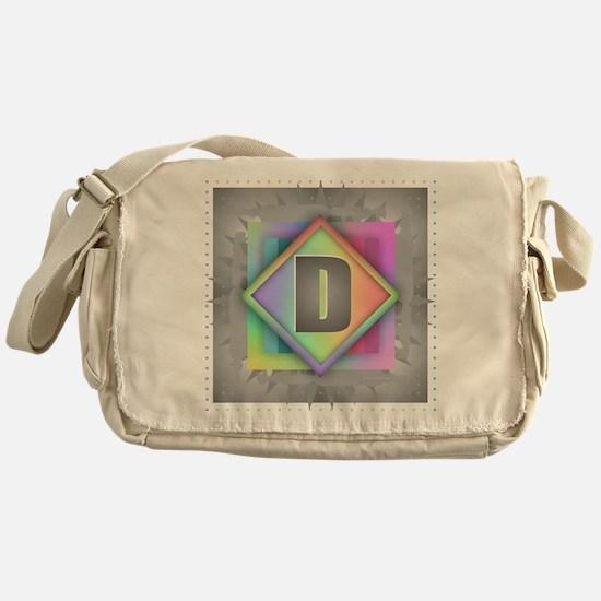 Rainbow Splash D Messenger Bag