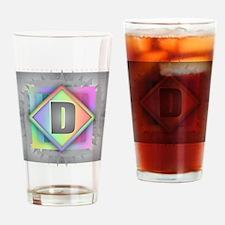 Rainbow Splash D Drinking Glass