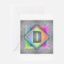 Rainbow Splash D Greeting Cards