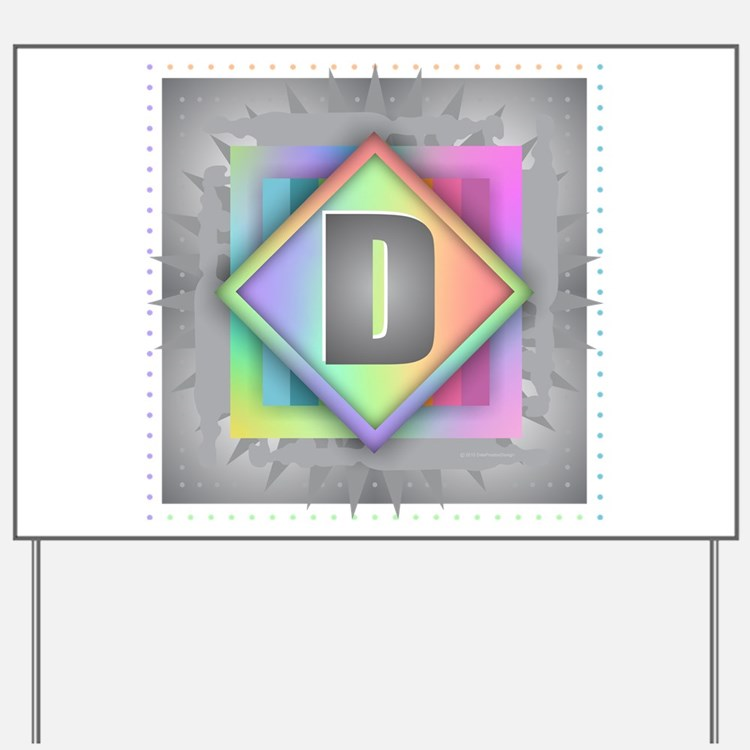 Rainbow Splash D Yard Sign