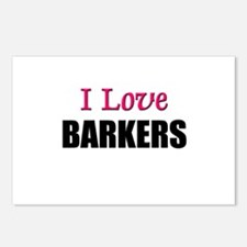 I Love BARKERS Postcards (Package of 8)