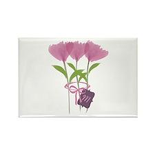 Custom Cute Pink Watercolor Peonies Magnets