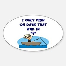 Fishing Days Oval Decal