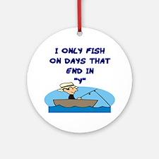 Fishing Days Ornament (Round)