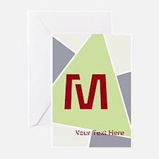 Cool Bright Monogram Greeting Cards (Pk of 20)
