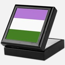 Genderqueer Pride Flag Keepsake Box