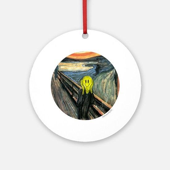 Smiley Scream Ornament (Round)