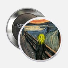 "Smiley Scream 2.25"" Button (10 pack)"
