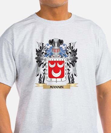 Mannin Coat of Arms - Family Cres T-Shirt