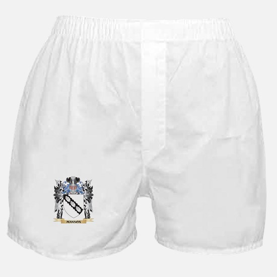 Manson Coat of Arms - Family Crest Boxer Shorts