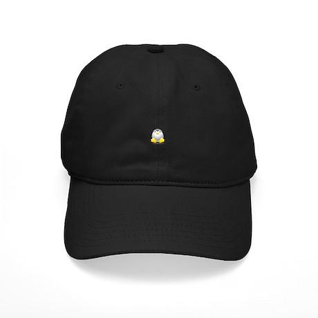 LINUX LOGO TUX PENGUIN Black Cap