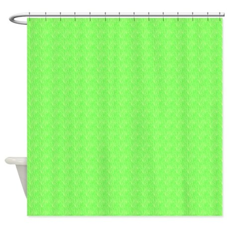 plain lime green shower curtain