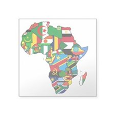 Flag Map Of Africa Sticker