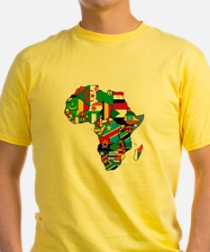 Flag Map of Africa T-Shirt