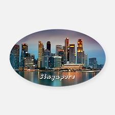 Singapore Oval Car Magnet