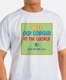 Best Old Codger and Modest T-Shirt