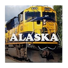 Alaska Railroad Tile Coaster