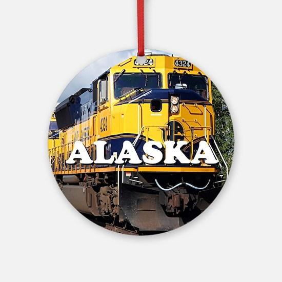 Alaska Railroad Round Ornament