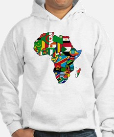Flag Map of Africa Hoodie