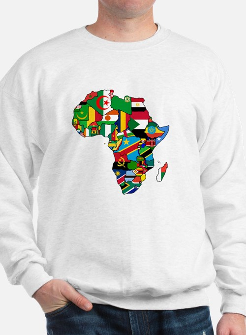 Flag Map of Africa Sweatshirt