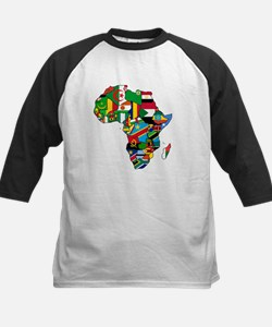 Flag Map of Africa Tee