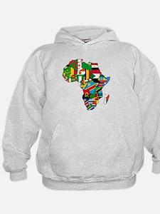 Flag Map of Africa Hoodie