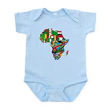 Flag Map of Africa Infant Bodysuit