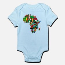 Flag Map of Africa Infant Bodysuit