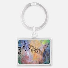 Abstract Music Landscape Keychain
