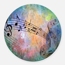 Abstract Music Round Car Magnet