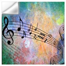 Abstract Music Wall Decal