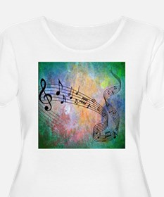 Abstract Music Plus Size T-Shirt