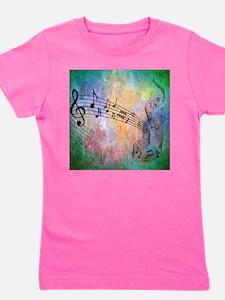 Abstract Music Girl's Tee