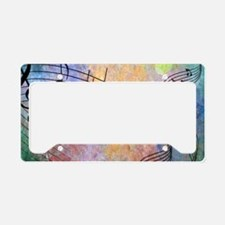 Abstract Music License Plate Holder