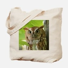 Red Sreech Owl Tote Bag