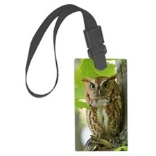 Red Sreech Owl Luggage Tag