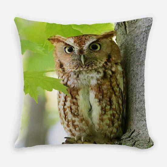 Red Sreech Owl Everyday Pillow
